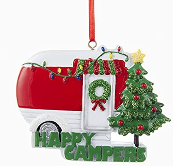 Kurt Adler Happy Campers Caravan Christmas Ornament Red