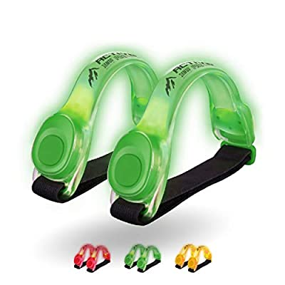 3AMGO Reflective Outdoor Running Light - High Visibility Outdoor Exercise Safety Light Running Jogging Walking Cycling Hiking Camping Gear & Equipment Weather Resistant Easy to Use (Fluor Green)