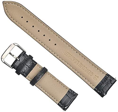 LvSenLin Correa De Reloj De Cuero Elegante Marrón Claro 18 Mm 20 Mm Reloj Suave Buck Hebilla Reloj Banda Pulsera Reemplazo