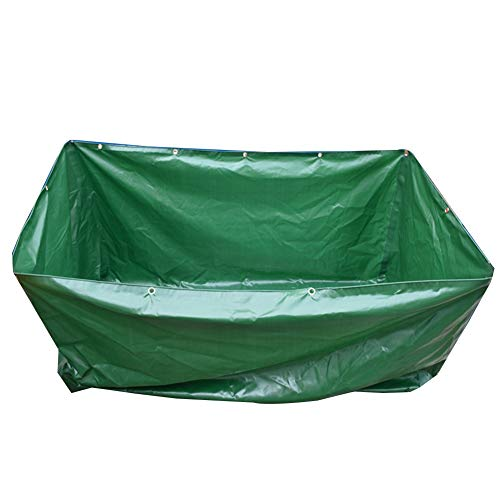 Tarp LJIANW Small Canvas Swimming Pool Waterproof Plastic Bag with Eyelets for Garden Patio Swim, Without Stand, 23Sizes (Color : Green, Size : 6x3x0.5m)