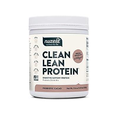 Probiotic Clean Lean Protein by Nuzest - Premium Vegan Protein Powder, Plant Protein Powder, European Golden Pea Protein, Dairy Free, Gluten Free, GMO Free