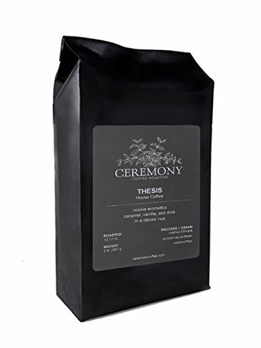 Ceremony Coffee Roasters - Thesis House Blend - Specialty Whole Bean or Ground Coffee- 2lb Bag (French Press - Coarse Grind)