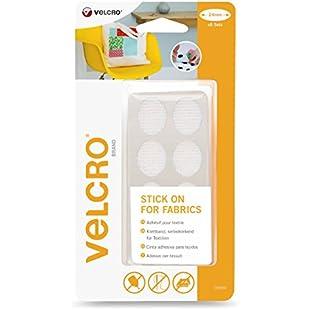 VELCRO Brand Stick On For Fabrics Ovals, 24 mm - White