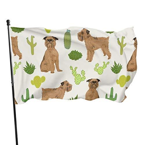 N/A USA Guard Vlag Banner Welkom Vlaggen Bloed Brussel Griffon Cactus Zandwerf voor Vakantie Patio Verjaardag Decoratie 3x5 Ft