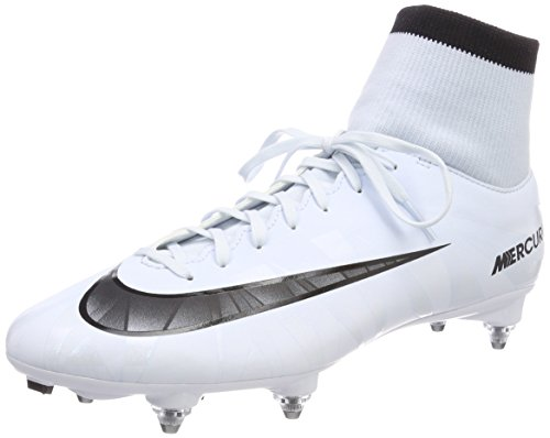 Nike Mercurial Victory VI Cr7 DF SG, Scarpe da Calcio Uomo, Bianco (Blau Tint/Schwarz-Weiß-Blau Tint), 42.5 EU