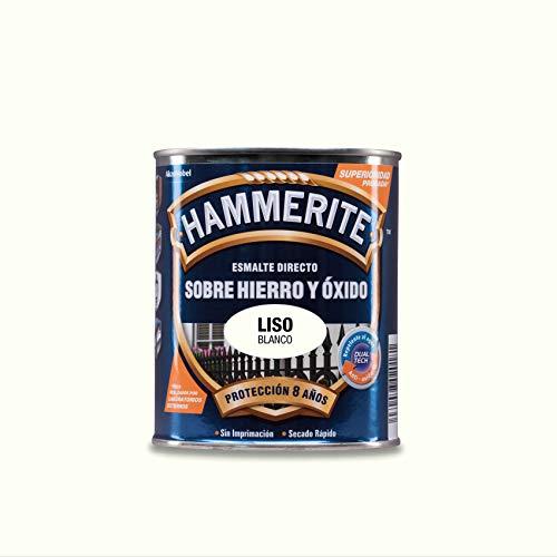 Hammerite Esmalte directo sobre hierro y óxido Liso Brillante Blanco 250 ml