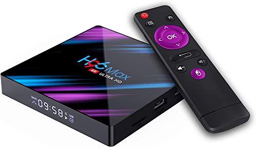 Muvit Android 10.0 H96 Max TV Box 2GB RAM 16GB ROM, Penta-Core Mali-450, RK3318 Quad-Core 64bit Cortex-A53, H.265 Decoding 2.4GHz/5 GHz Wi-Fi Smart TV Box (2/16 GB)