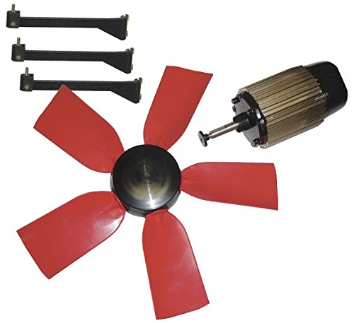 """Multifan 24"""" Corrosion Resistant Exhaust Fan Kit, Number of Blades 5, 1 Phase, Motor RPM 1050-7HY07"""