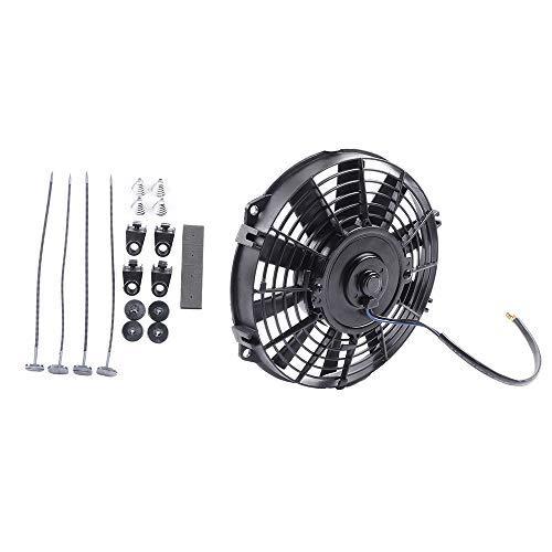 cciyu 8'Inch Push Pull Slim Electric Radiator Cooling Fan Mount Kit Universal Plastic Black