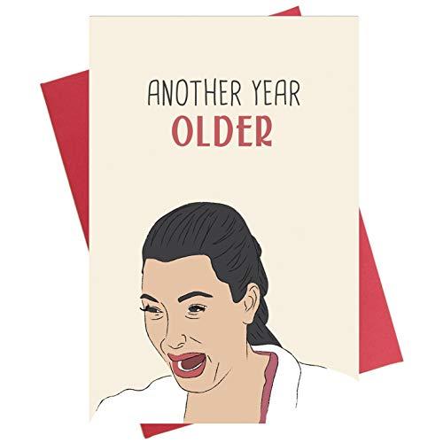 Kim Kardashian Weinen Geburtstagskarte, lustige Geburtstagskarte für Mutter, Freundin, Schwester und Ihn.