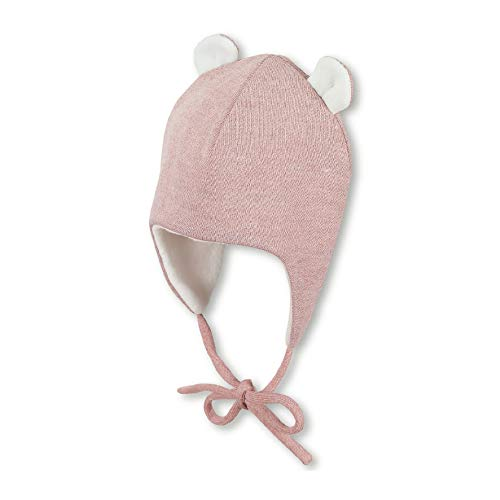 Sterntaler Inka-Mütze für Mädchen mit abstehenden Öhrchen, Gefüttert, Alter: 12-18 Monate, Größe: 49, Rosa