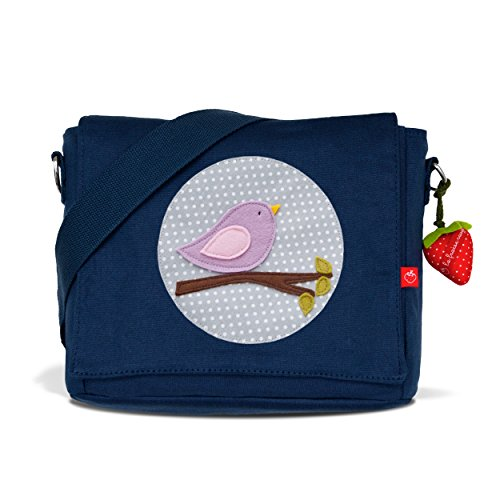 La Fraise Rouge Kindergartentasche Vögelchen Kinder-Rucksack, Dunkel Blau