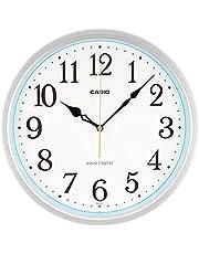 CASIO(カシオ) 掛け時計 電波 シルバー 直径30.5cm アナログ 夜間秒針停止 IQ-481J-8JF