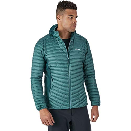 RAB Cirrus Flex Hooded Jacket - Men's Bright Arctic, L