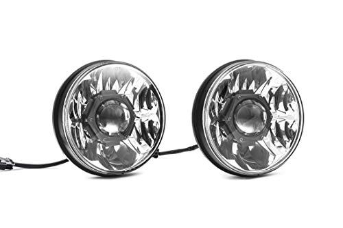 """KC HiLiTES 42341 Gravity LED Pro 7"""" DOT Headlight, Jeep JK 07-18 - Pair Pack System"""