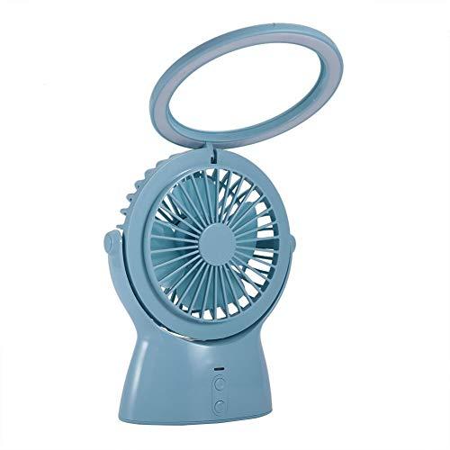 Mini Silent Fan, USB-ventilator, persoonlijke draagbare pc-ventilator, 180 graden rotatie, met Smart Night Light-LED, CE-, ROHS- en PCC-gecertificeerd, blauw