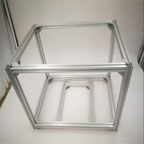NO LOGO L-TAO-Pulley, 1set 3D Printer Extrusion Metal Frame & Hardware Kit HyperCube 3D Imprimante/CNC DIY Kit mécanique Imprimer lit 200x200 (Taille : Argent)
