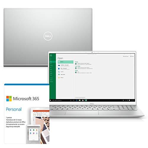 """Kit Notebook Ultrafino Dell Inspiron i5502 15.6"""" FHD 11ª G. Intel Ci7 16GB 512GB SSD NVIDIA GeForce Win 10 Microsoft 365"""