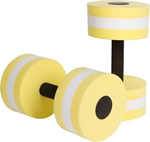 Trademark Innovations Aquatic Exercise Dumbells Set of 2 Foam for Water Aerobics Yellow product image
