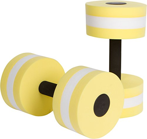 Trademark Innovations Aquatic Exercise Dumbells - Set of 2 Foam - for Water Aerobics - (Yellow)