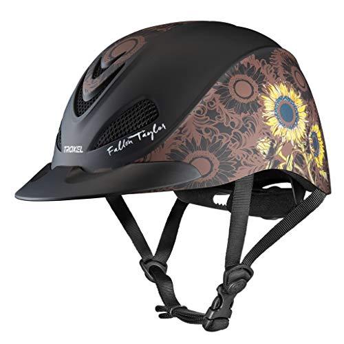 Troxel Fallon Taylor Sunflower Horse Western Riding Helmet Low Profile Adjustable (Medium)