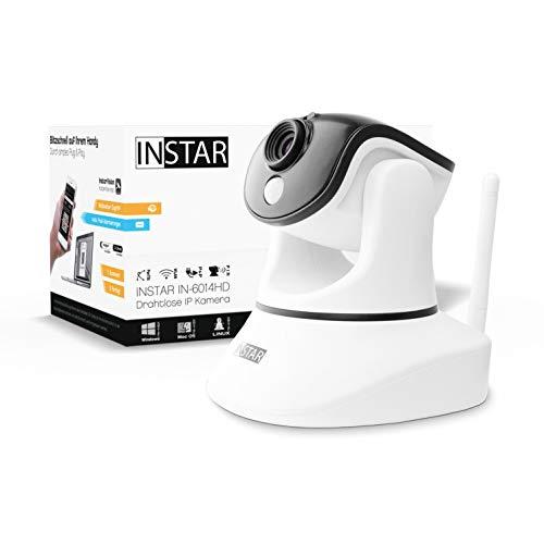 INSTAR IN-6014HD Weiss - WLAN Überwachungskamera - IP Kamera - steuerbar - Innenkamera – Mikrofon – Lautsprecher - Pan Tilt - PIR - Bewegungserkennung - Nachtsicht - Weitwinkel - LAN - RTSP - ONVIF