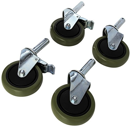 Lumex Replacement Casters for 7910A-1 and 7915A-1 Shower Chairs, Pack of 2, 7910A-CST