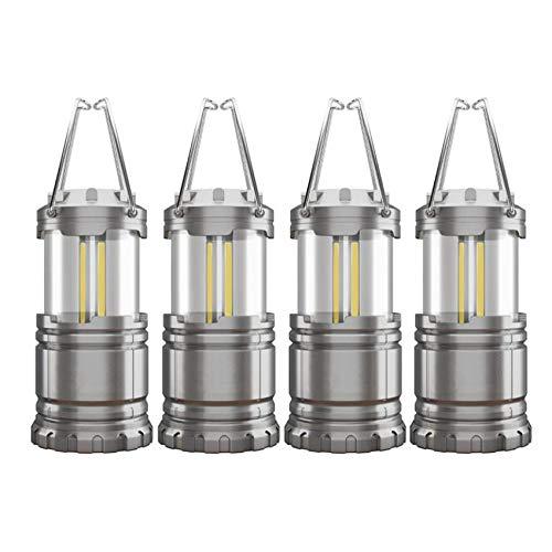 SNOWINSPRING 4Pack COB Lanterna da Campeggio Portatile ad Alta Luminosità per Esterni da Campeggio Torcia Elettrica Torcia Luminosa Kit Attrezzatura di Sopravvivenza
