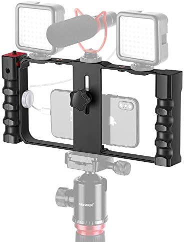 Neewer Smartphone Video Rig Stabilizer 3 Cold Shoe Tripod Mount for Vlogger Videomaker Film product image