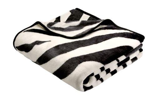 bocasa by biederlack 223-128  biederlackborbo 40008 De Luxe, Zebra mehrfarbig circa 180 x 220 cm 85% Polyacryl, 15% Polyester