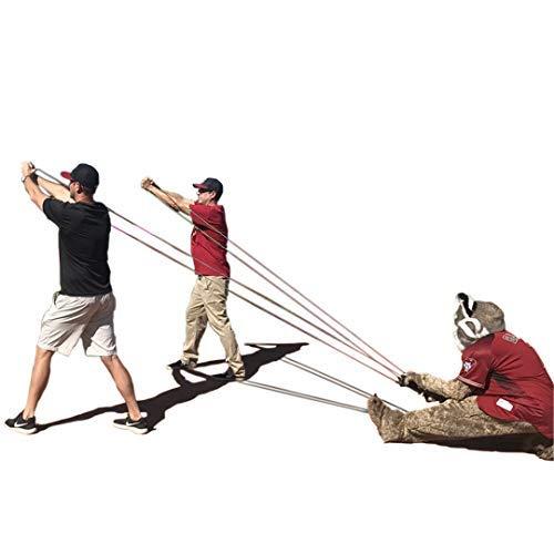 Water Balloon Launcher 500 Yard Long Range, 3 Man Slingshot with 500 Water Balloons,Nerf Guns,Giant Slingshot T-Shirt Launcher Cannnons