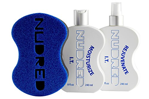 The 'Starter' Moisturize I.T. 2 Bottle SET with BLUE Hair Sponge for Men/Women | The Original NUDRED Natural Hair Care System