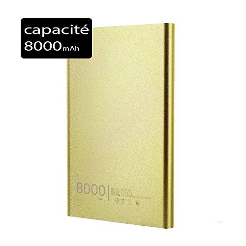 Power Bank Batería de Reserva Externo Slim 8000mAh para iPhone X Oro