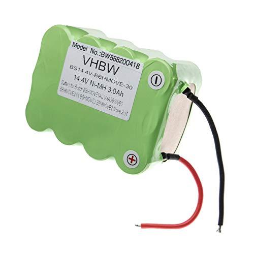 vhbw Akku passend für Bosch Move 2in1, 2in1 14.4V, BBHMOVE1/01, BBHMOVE1/03, BBHMOVE1AU/03 Home Cleaner Heimroboter (3000mAh, 14.4V, NiMH)