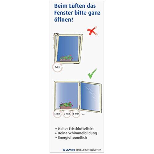 immi 4x Bitte richtig lüften, wieder ablösbare Klebefolie Hinweis Fenster...