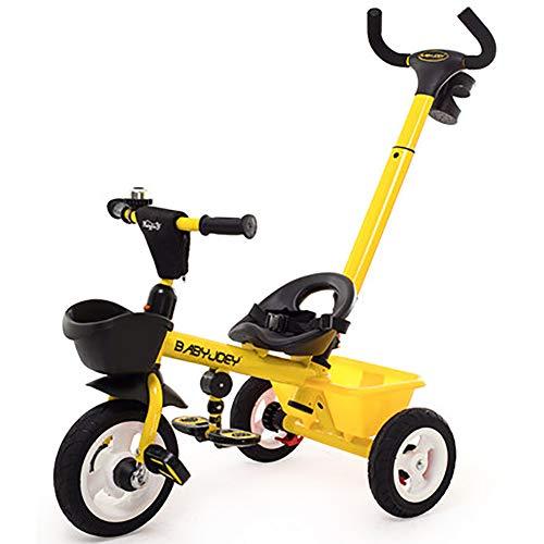 SHARESUN Kids driewieler, 3-in-1 kinderen rijden op Trike met mandje, ouders stuur, 3 wiel fiets voor peuter, Trike Balance Bike voor 1-5 jaar oude jongens en meisjes