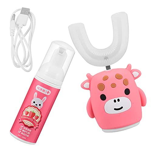 DOITOOL - Spazzolino da denti elettrico a forma di U per bambini, strumento di pulizia dei denti in silicone, strumento per la cura orale per bambini e bambini