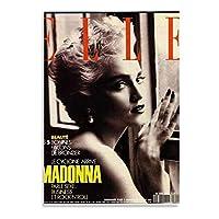 マドンナエルフランス1990トレンディファッションキャンバス絵画アートポスターとプリントウォールアート写真プリントモダンな家族の寝室の装飾-50x70cmx1pcs-フレームなし