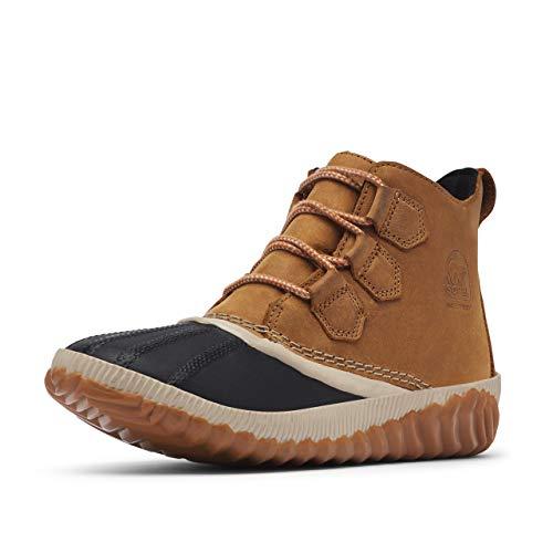 Sorel - Women's Out 'N About Plus Waterproof Boot, Leather, Elk, 9 M US