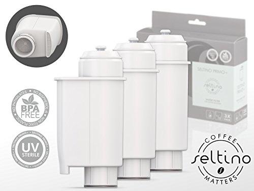 Trippel Pack Seltino PRIMO+ waterfilter voor PHILIPS SAECO koffiemachines, compatibel met Brita Intenza+ (3 filters in set)