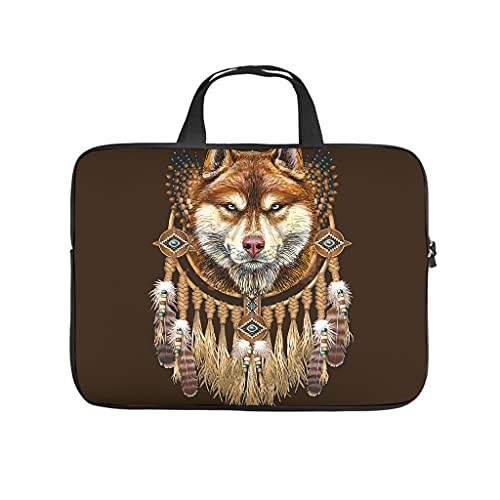 Wolf Dream Catcher 3D Print Laptop Bag Protective Case Durable Neoprene Laptop Bag Personalised Notebook Bag Sleeve Case for Employee Friends