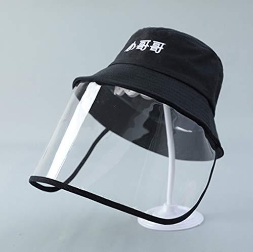 GL SUIT Kinder Anti-Saliva Schutz-Baby-Schutz-Augen-Schild im Freien Sonnenschutz Junge Fischer-Hut Mädchen staubdichte Kappen,Black 6,48cm (6~20M)