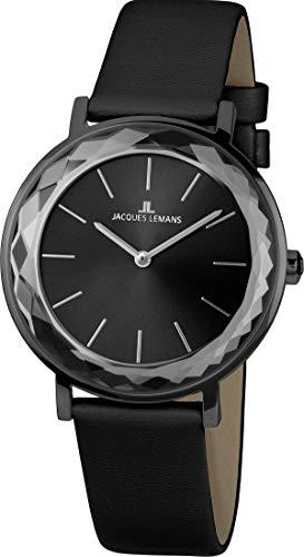 Reloj de Pulsera Jacques Lemans York de Acero Inoxidable, Color Negro