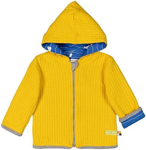 loud + proud Baby-Unisex Wendejacke Strick Aus Bio Baumwolle Strickjacke, Gelb (Honey Hon), 80 (Herstellergröße: 74/80)