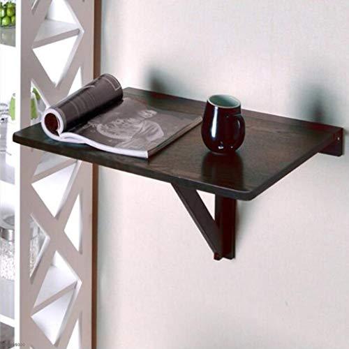 XXHDEE Opvouwbare muur-hangende bureau-laptop-tafel-druipblad - eenvoudige moderne woningtafel van stevige houten klaptafel