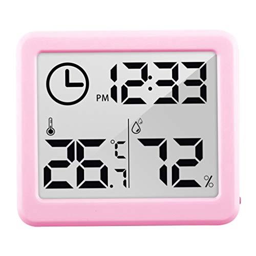 Baoblaze Higrómetro Digital termómetro de Interior, higrómetro, con Temperatura precisa medidor de Humedad para hogar, Oficina, Invernadero - Rosa