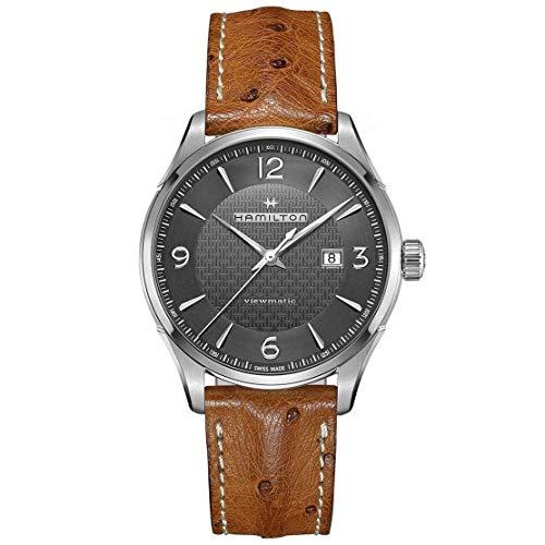 Hamilton Jazzmaster Viewmatic Automatik-Armbanduhr für Herren, Leder, H32755851