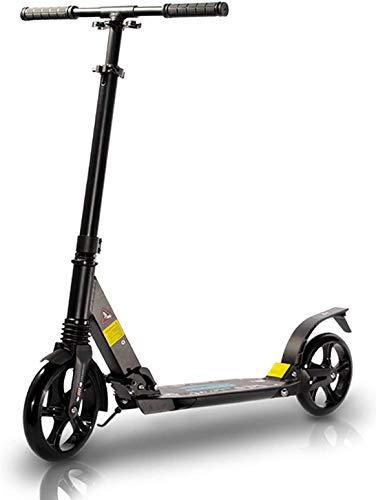 TENBOOM Patinete para adultos, gran rueda, 6 años, plegable, urbano, con frenos traseros y correa, dos amortiguadores