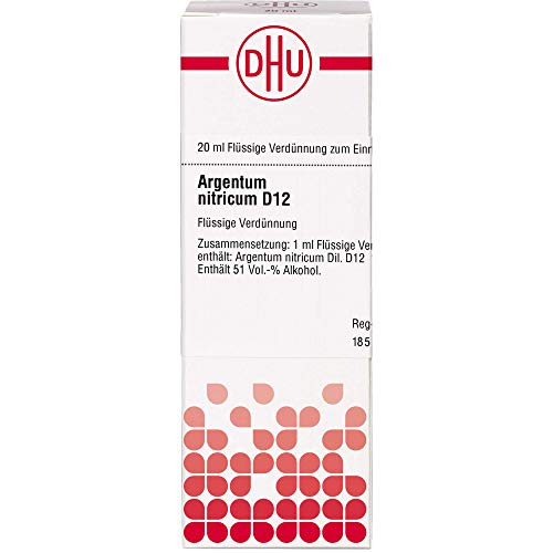 DHU Argentum nitricum D12 Dilution, 20 ml Lösung