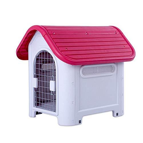 Perro Gato Ecológico De Plástico Resistente A La Intemperie De La Perrera Grande De Big Dog House, Cubierta Al Aire Libre For Mascotas Dog Kennel Fabricantes (Color : 403 Red)
